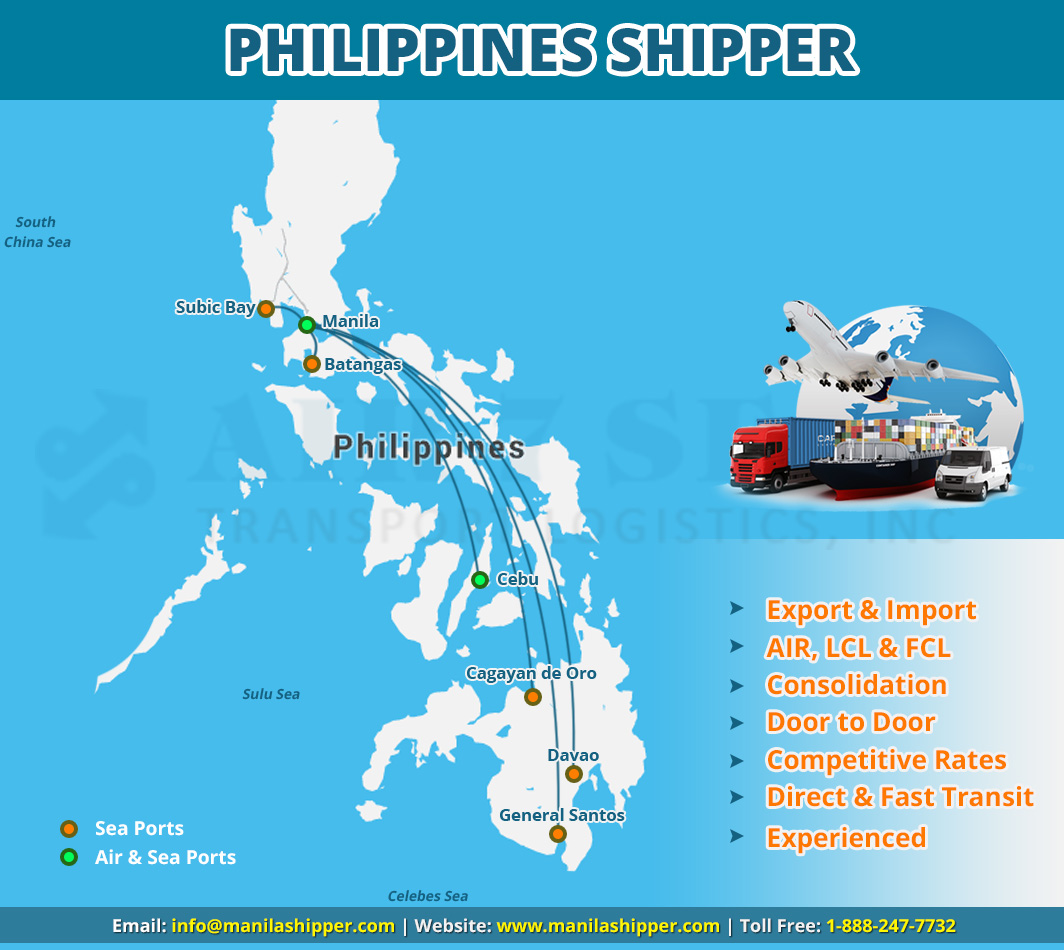 PShipping to Philippines Service map
